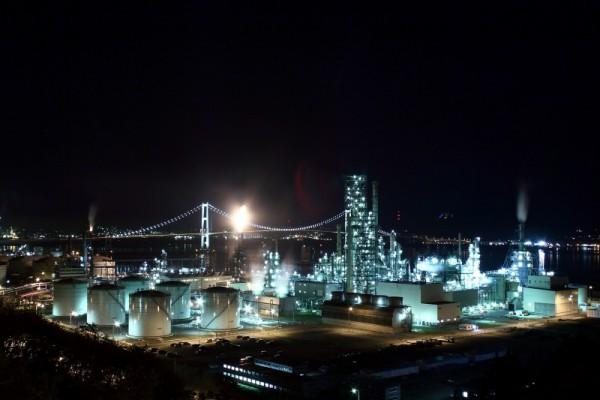 室蘭市工場夜景1