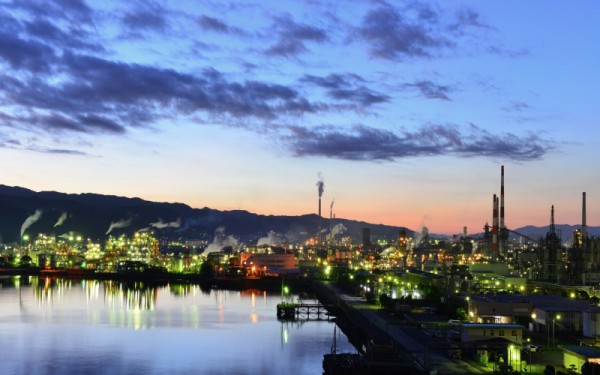 周南市工場夜景1